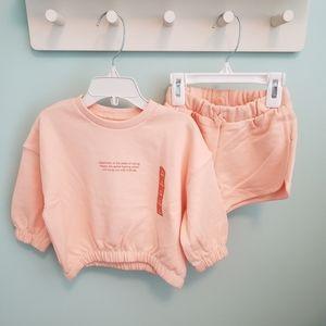 Zara Baby Girl Plush Tangerine Set